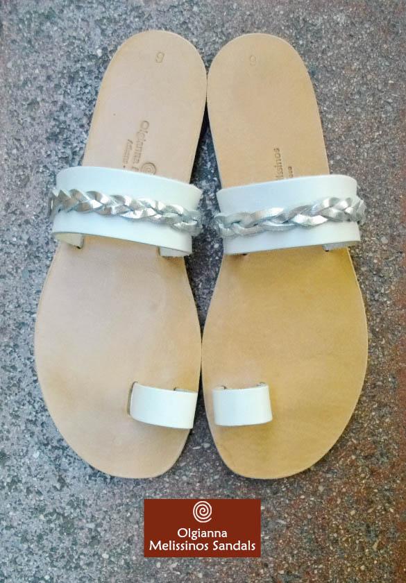Handmade Sandals- APOLLO WHITE BRAID 06APL