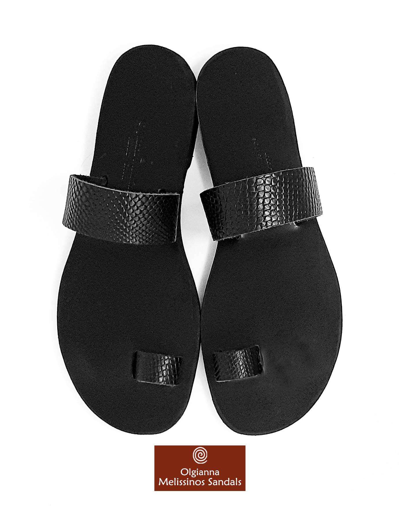 Handmade Sandals - APOLLO SNAKE BLACK 06FMMK