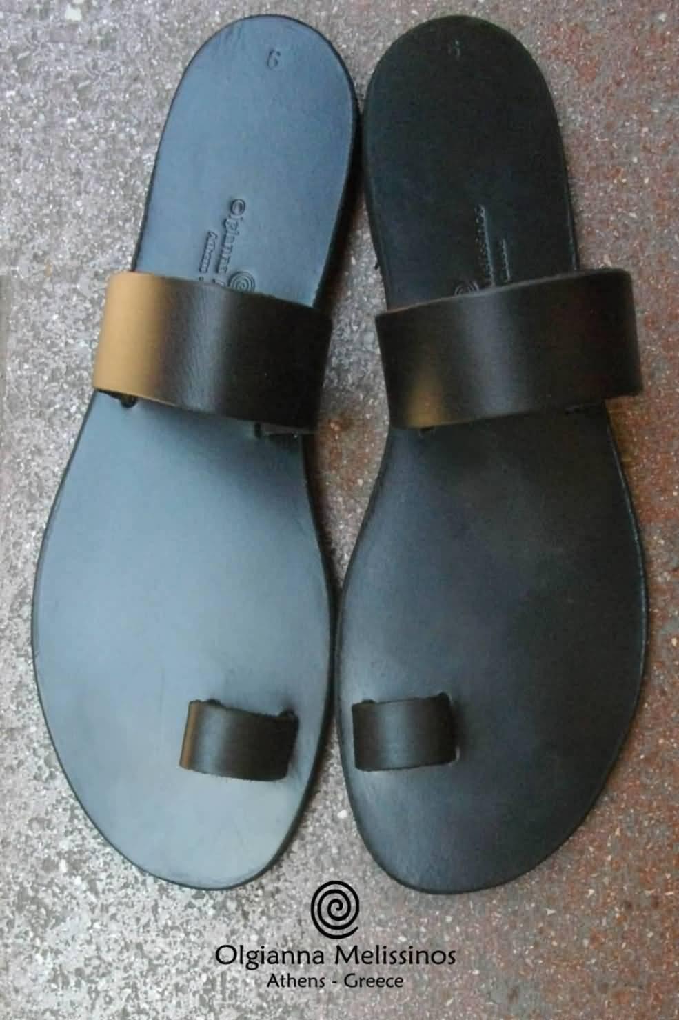 Handmade Sandals - APOLLO BLACK 6MMK