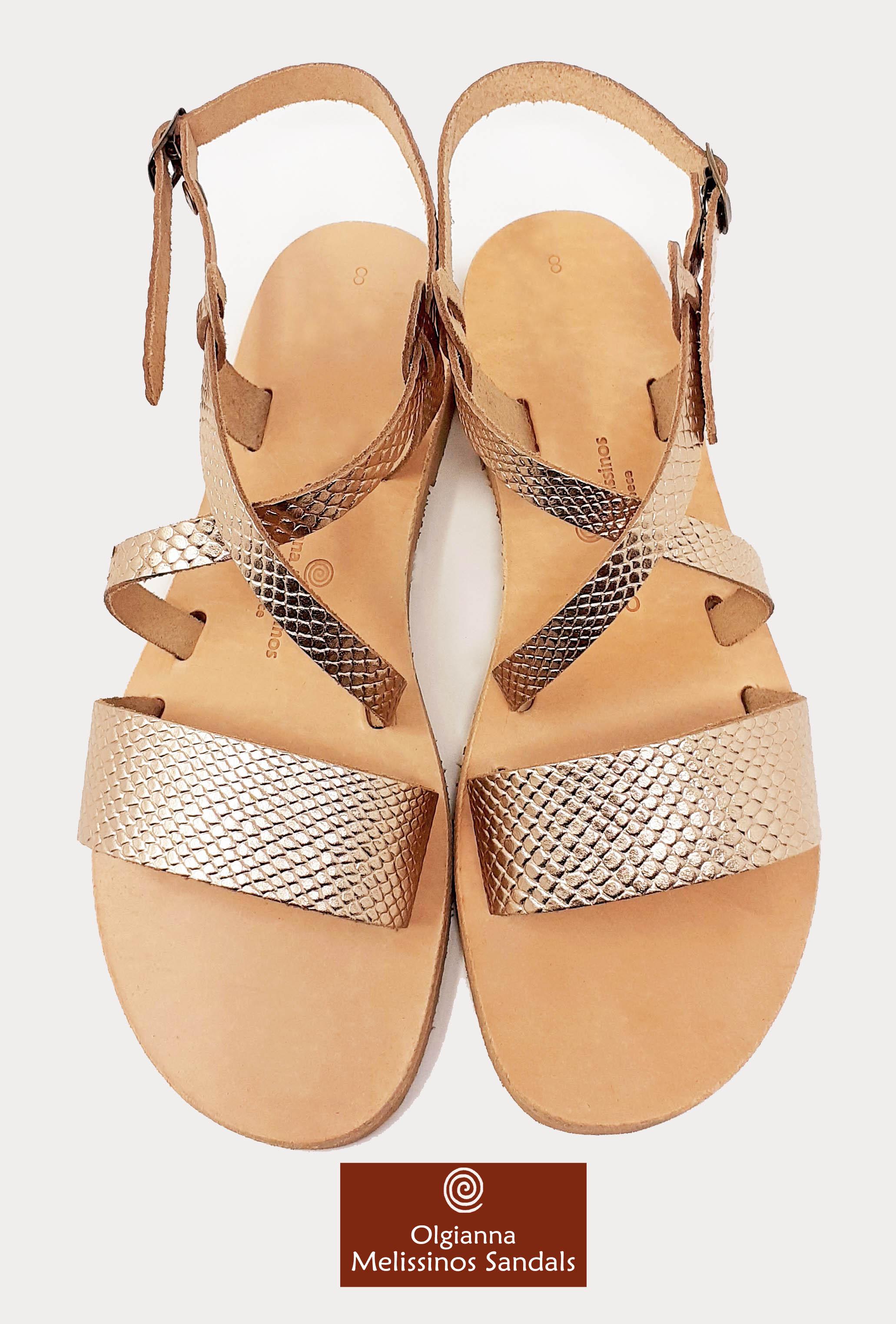 Handmade Sandals - JASON SNAKE GRECIAN GOLD 08FGGK