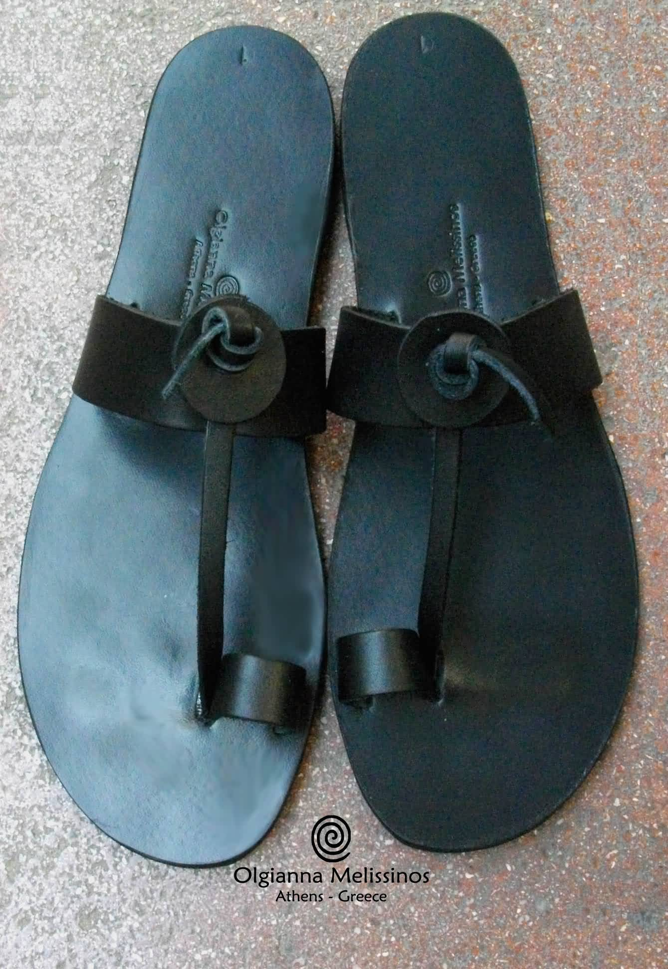 Handmade sandals - ARES BLACK 10MMK