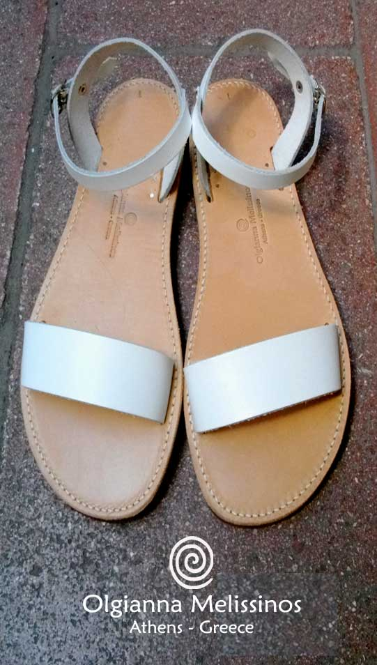 Handmade Sandals - RHEA WHITE 17/22A