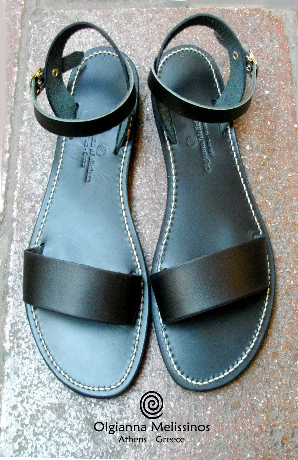 Handmade Sandals - RHEA BLACK 17/22MM