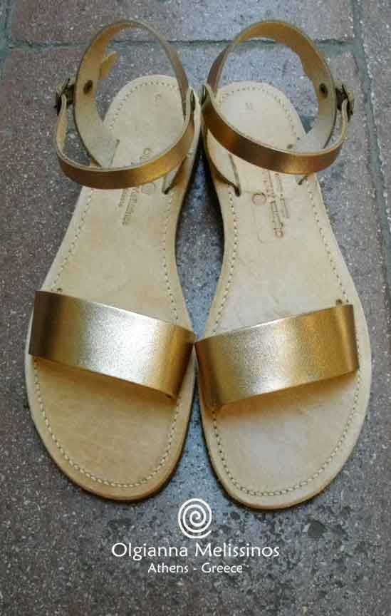Handmade Sandals - RHEA 17/22BRGS METALLIC