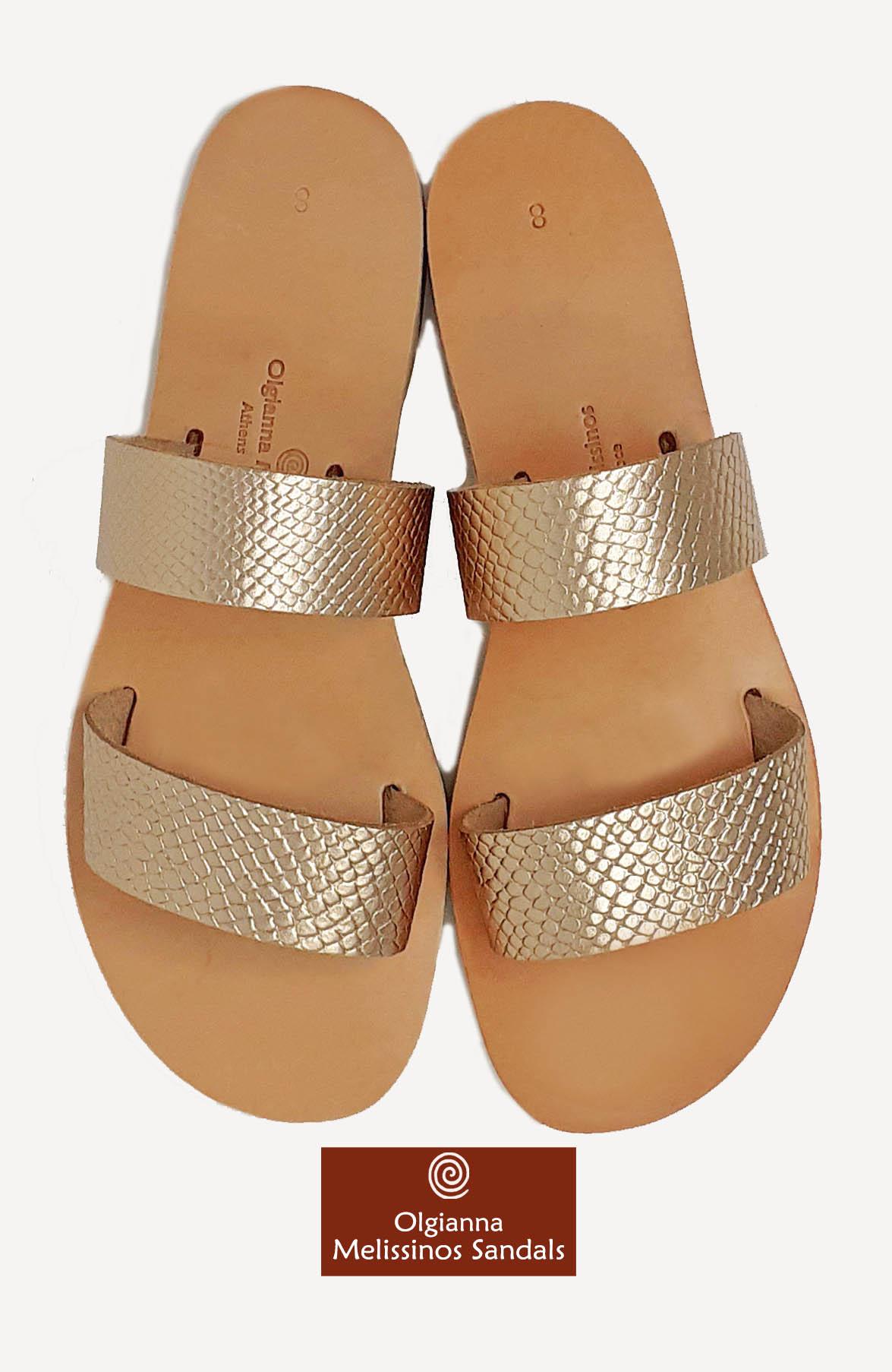 Handmade Sandals - HERA SNAKE GRECIAN GOLD 17FGGK