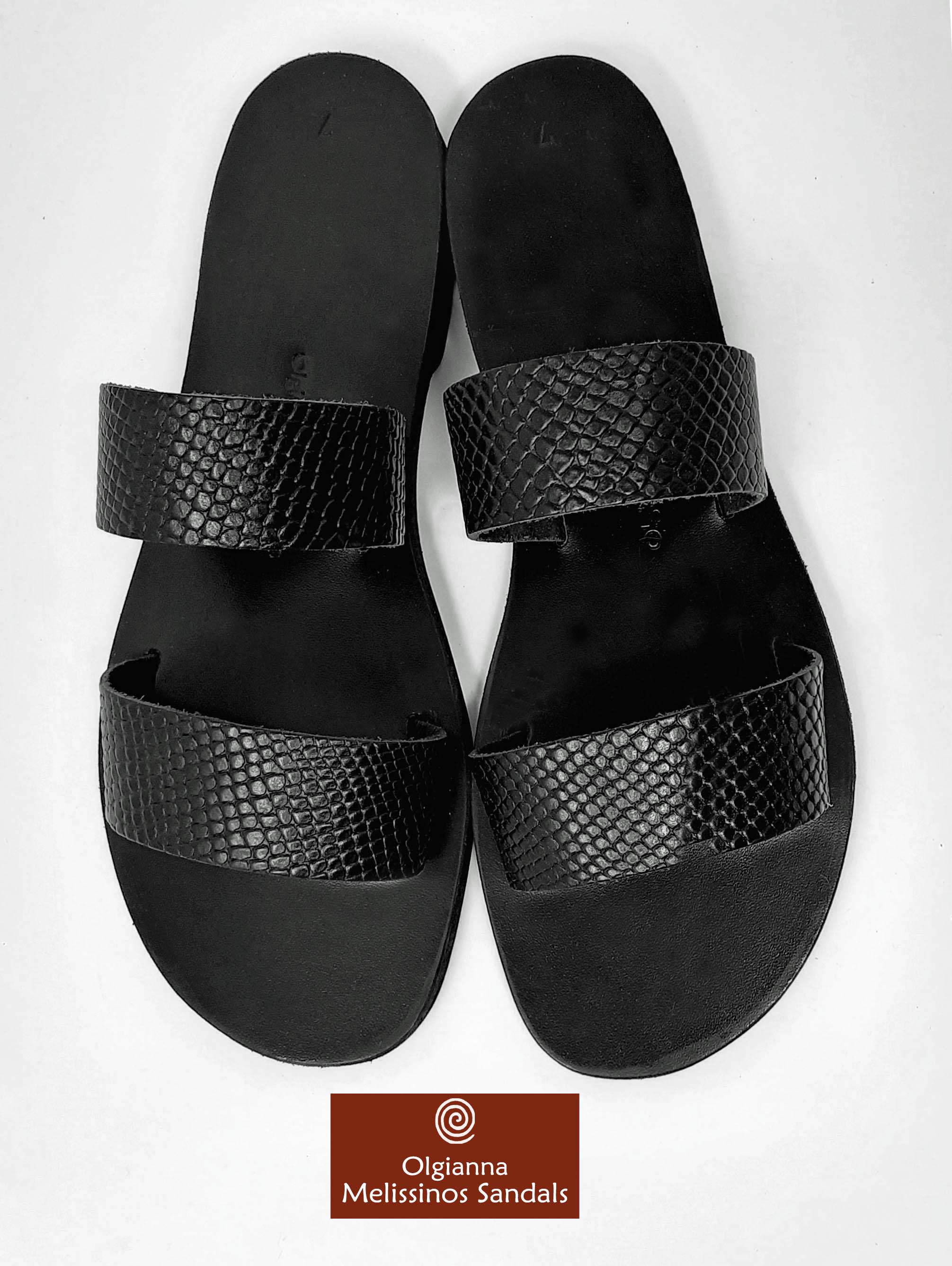 Handmade Sandals - HERA SNAKE BLACK 17FMMK