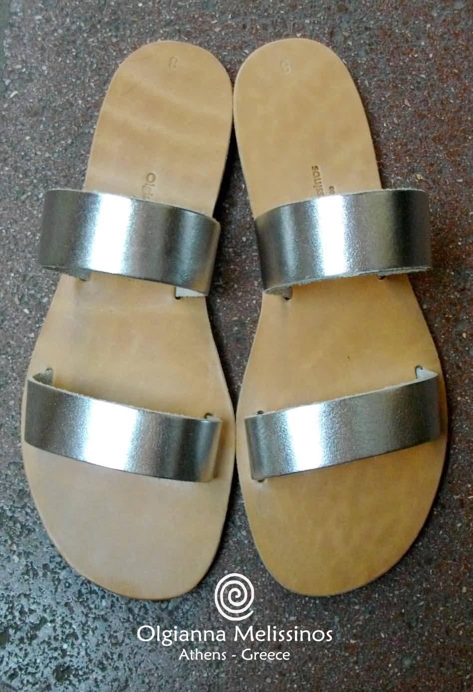 Handmade Sandals - HERA SILVER 17SK