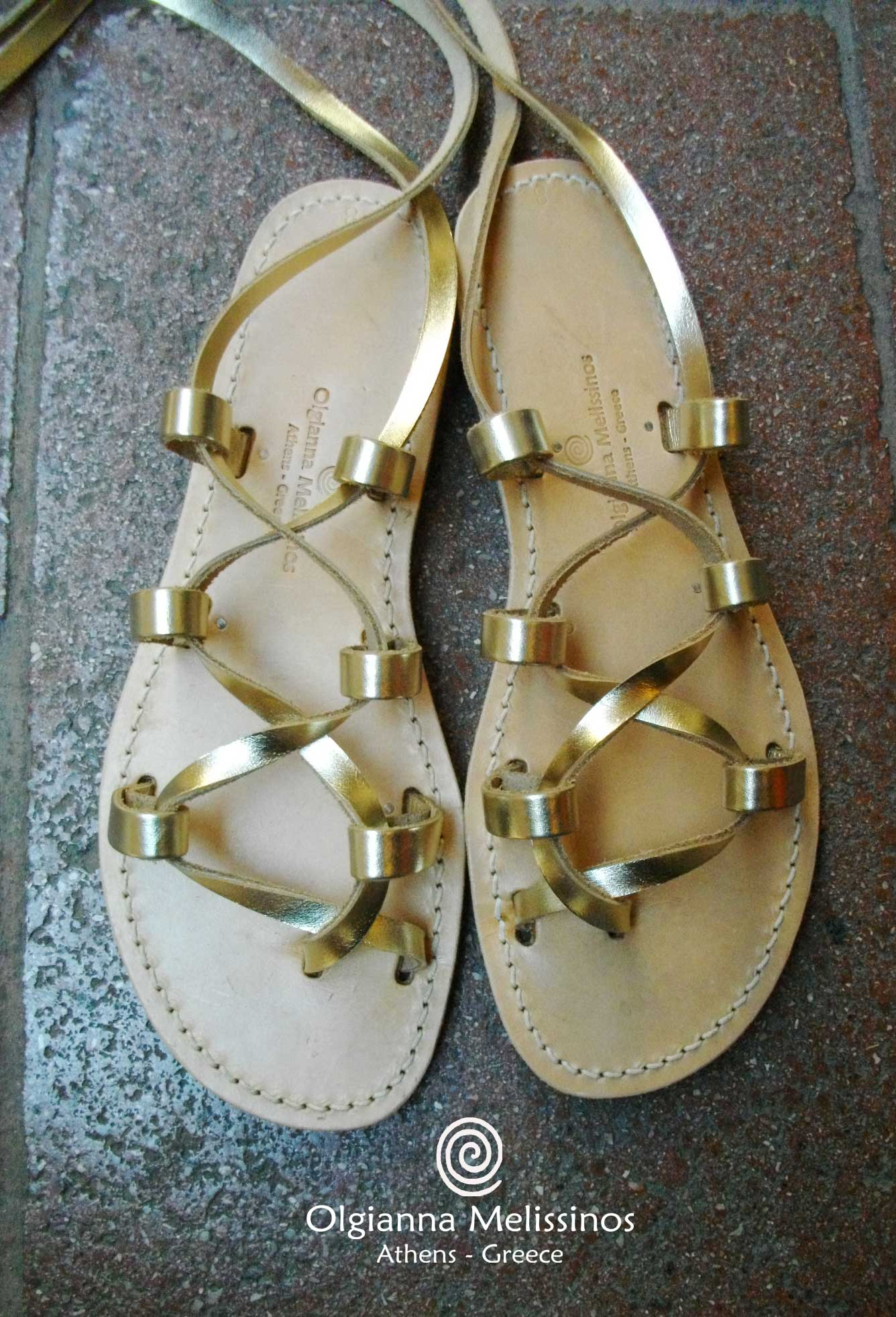 Handmade Sandals - SPARTAN METALLIC 1G