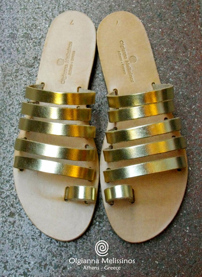 Handmade Sandals - MYRINA GOLD 67GK