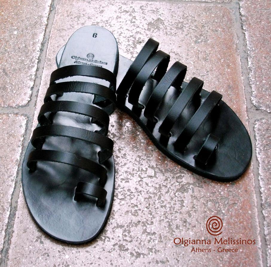 Handmade Sandals - MYRINA BLACK 67MMK