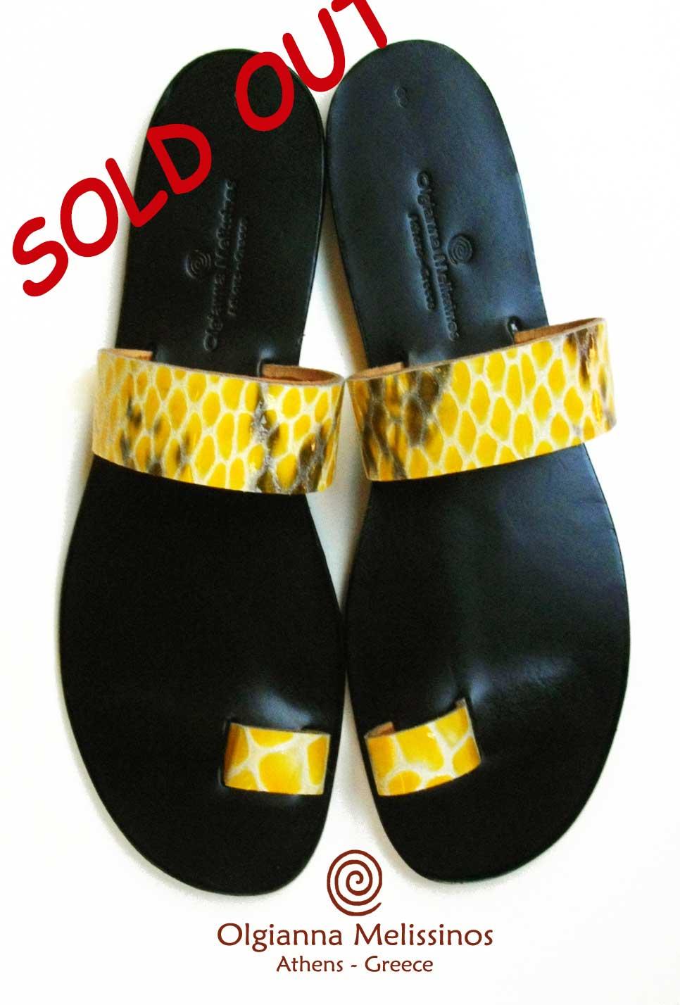 Handmade Sandals - SNAKE APOLLO BLACK 6FMK