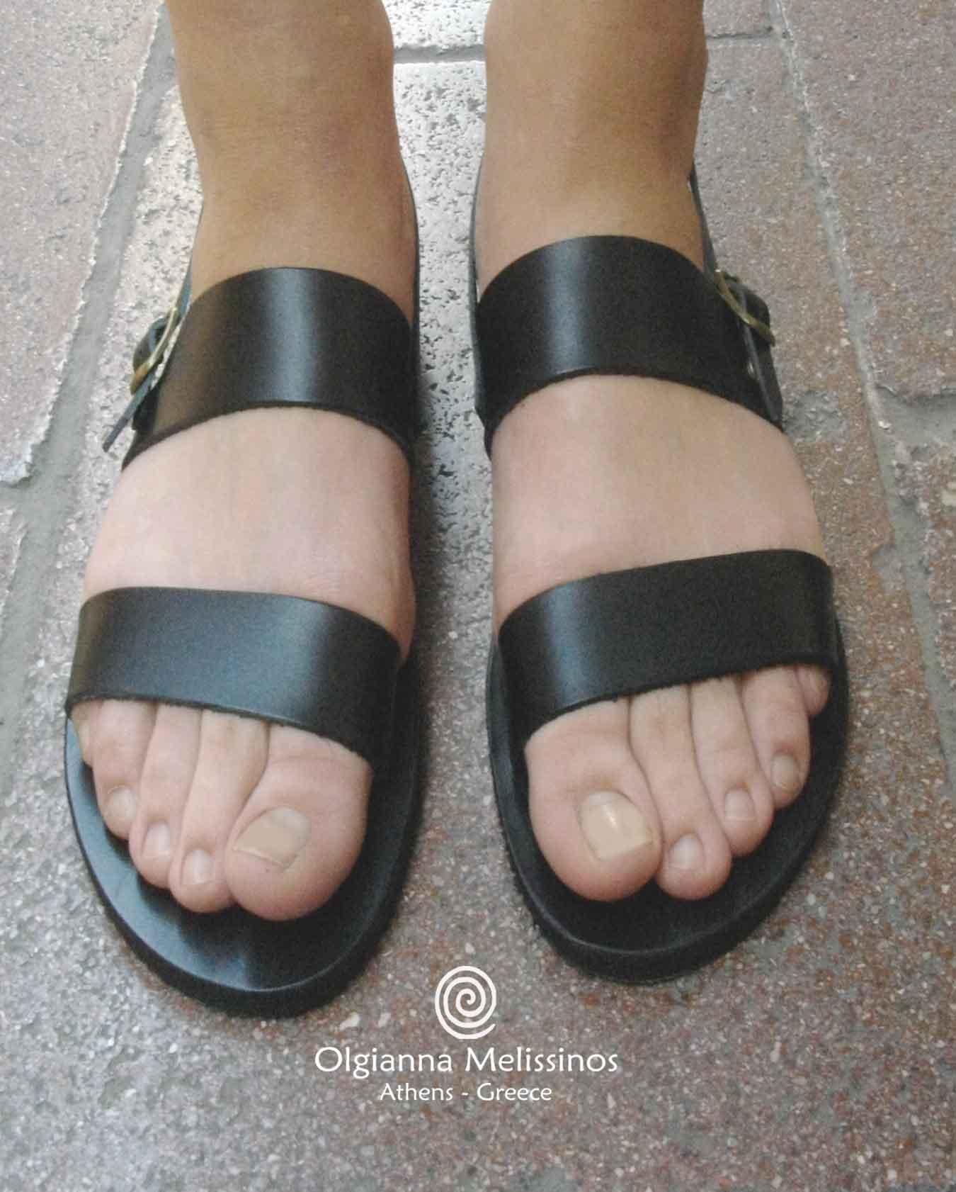 Handmade Sandals - ZEUS BLACK 7MMK