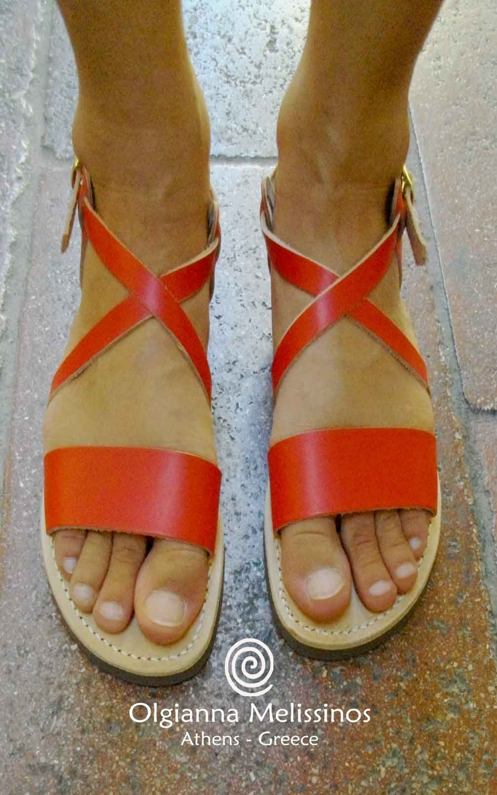 Handmade Sandals -  JASON RED 8R