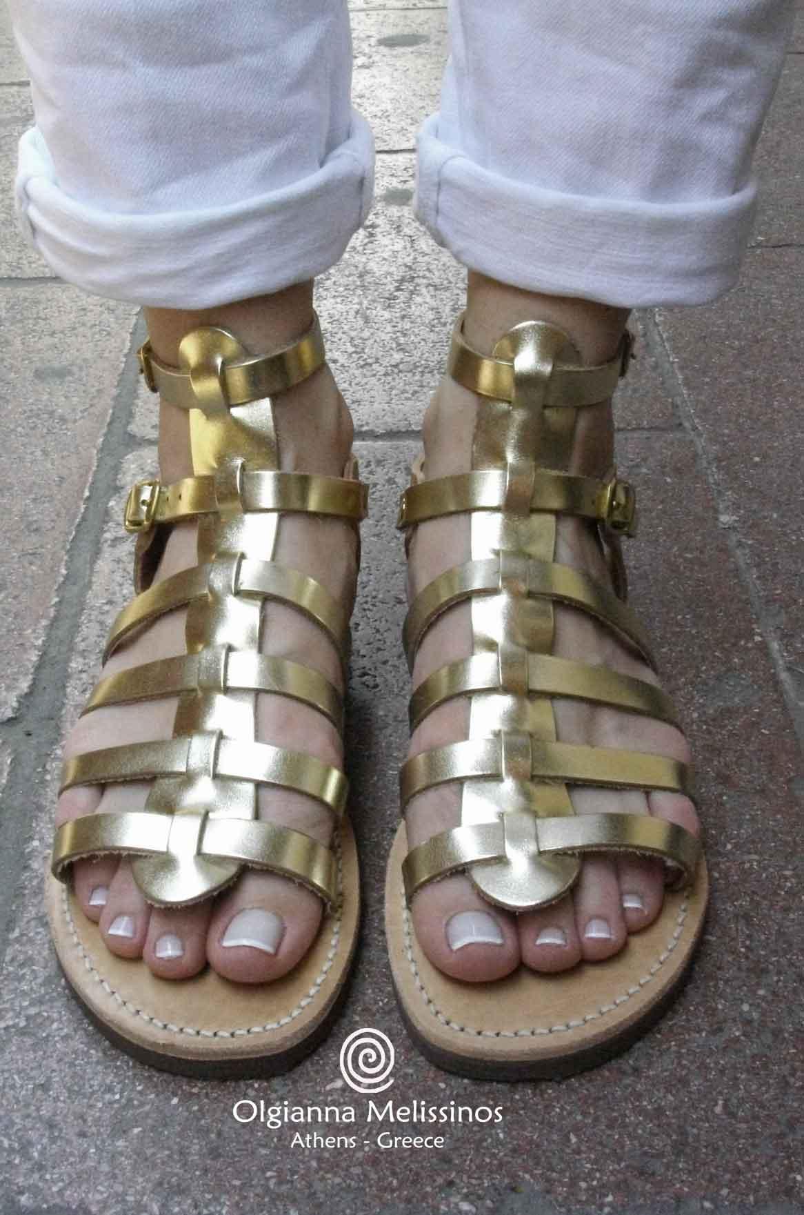 Handmade Sandals - CLEOPATRA NATURAL + METALLIC 21BRGN