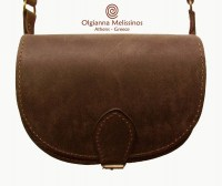 LEATHER OVAL BAG ANTIQUE BROWN - TB280L