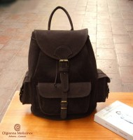 NUBUCK BACKPACK MEDIUM 3 POCKETS